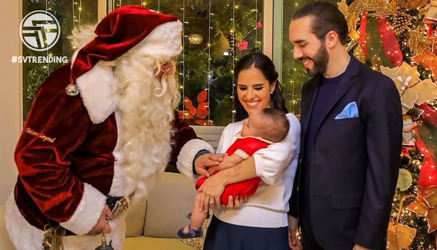 Gabriela de Bukele desea que el niño Jesús nazca en los corazones de los salvadoreños