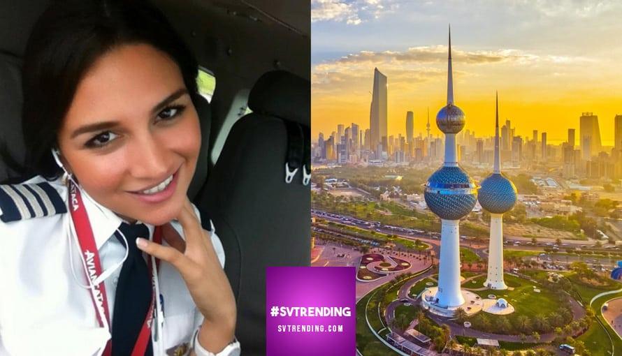 Primera piloto salvadoreña que trabaja para una aerolínea en Kuwait