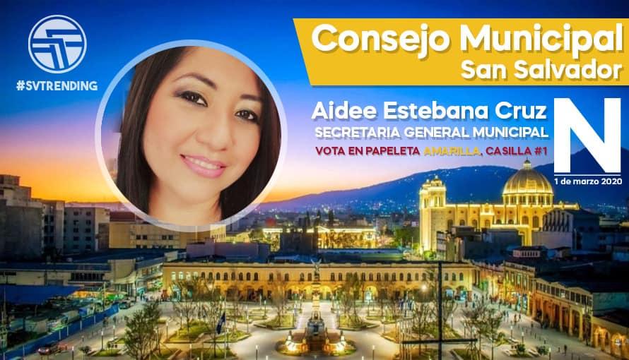 Aidee Cruz, la favorita para la Secretaría Municipal de San Salvador por Nuevas Ideas