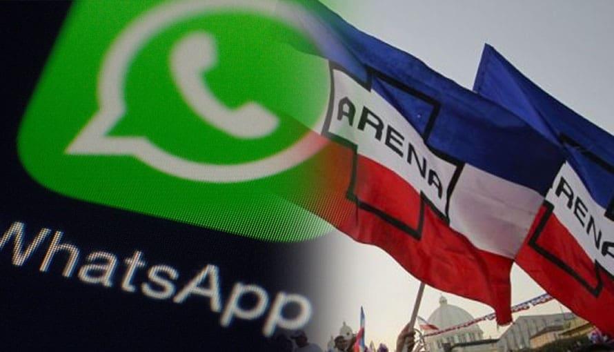 Se filtran supuesto chat de miembros de ARENA para desestabilizar al gobierno