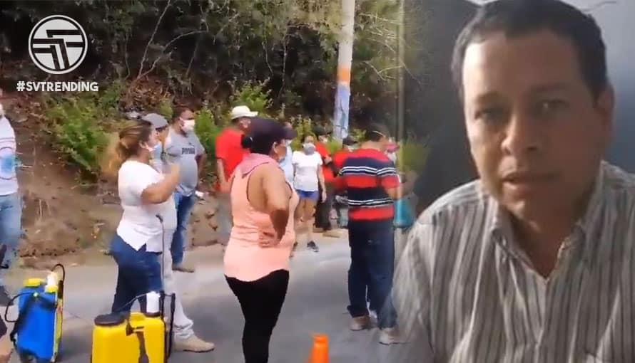 Pese a pandemia, simpatizantes del FMLN cierran calle y exigen liberar al alcalde