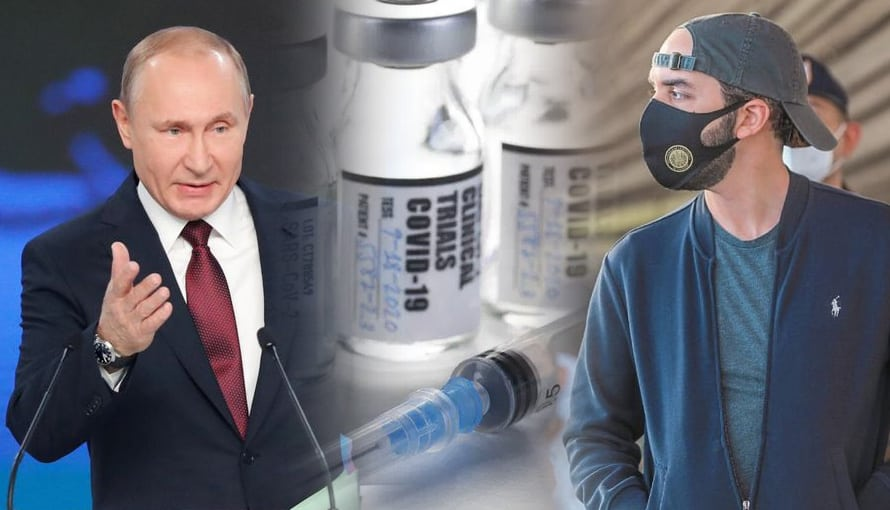 Gobierno de Rusia pone en primer lugar a El Salvador gracias a la gestión de Bukele en la entrega de vacunas contra el COVID-19