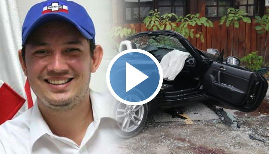 Filtran nuevo vídeo del aparatoso accidente en el que estuvo involucrado diputado Magaña