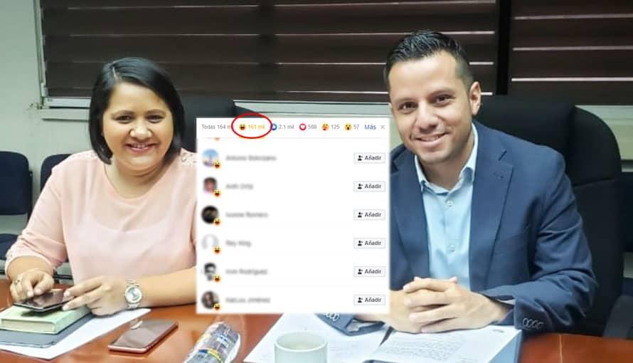 """Personas que le han dado """"me divierte"""" a la fotografía de Cristina Cornejo reciben dinero asegura diputado"""