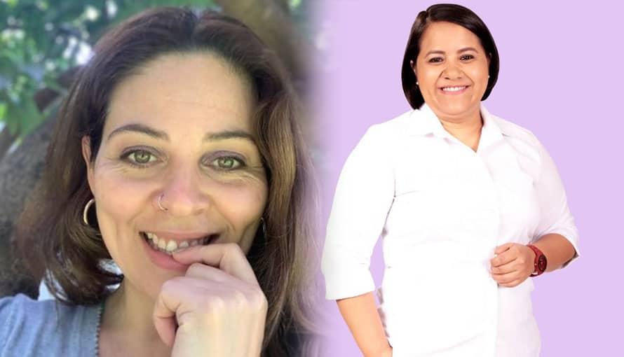 Bertha Deleón exige a gritos votar por Cristina Cornejo por ser la mejor diputada de El Salvador