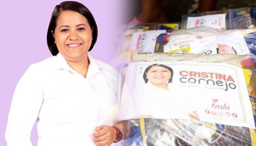 Cristina Cornejo inicia campaña adelantada y es denunciada por los salvadoreños al TSE