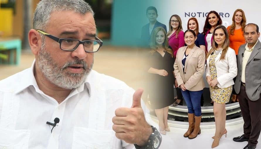 """Funes describe como """"hambrientos"""" a periodistas del nuevo Noticiero El Salvador"""