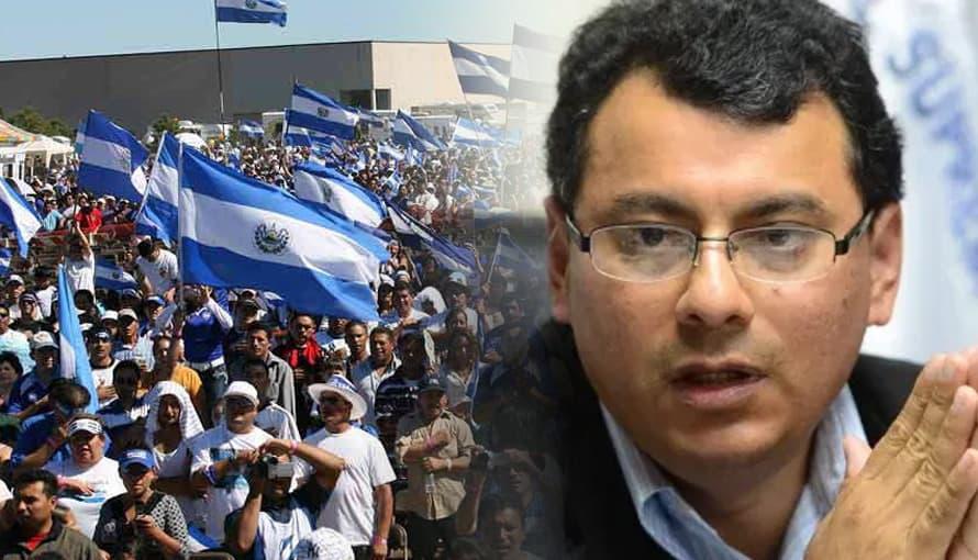 Salvadoreños continúan exigiendo la renuncia del Magistrado Julio Olivo
