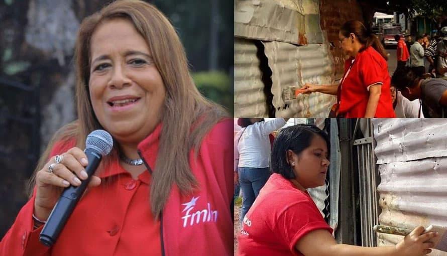 Nidia Díaz asegura que el FMLN está trabajando por mantener la economía del país