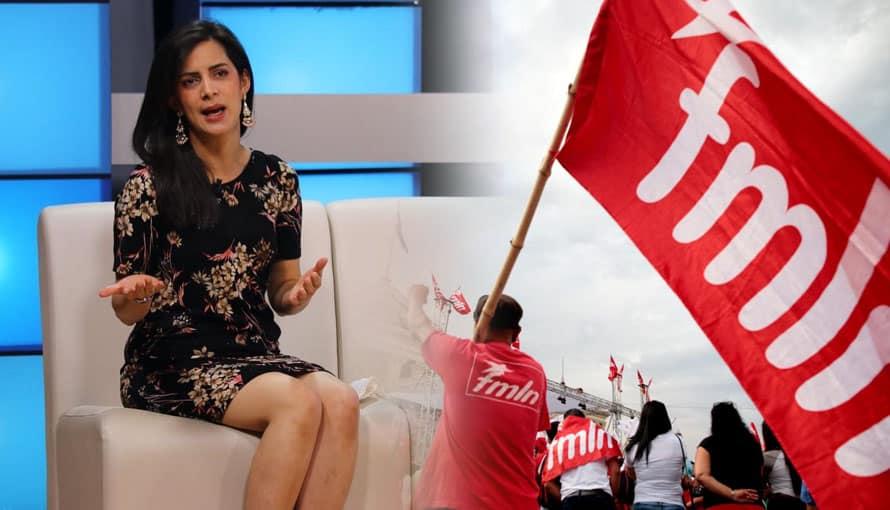 """Candidata del partido VAMOS llama """"hijos de p…"""" al FMLN mientras grababa un anuncio"""