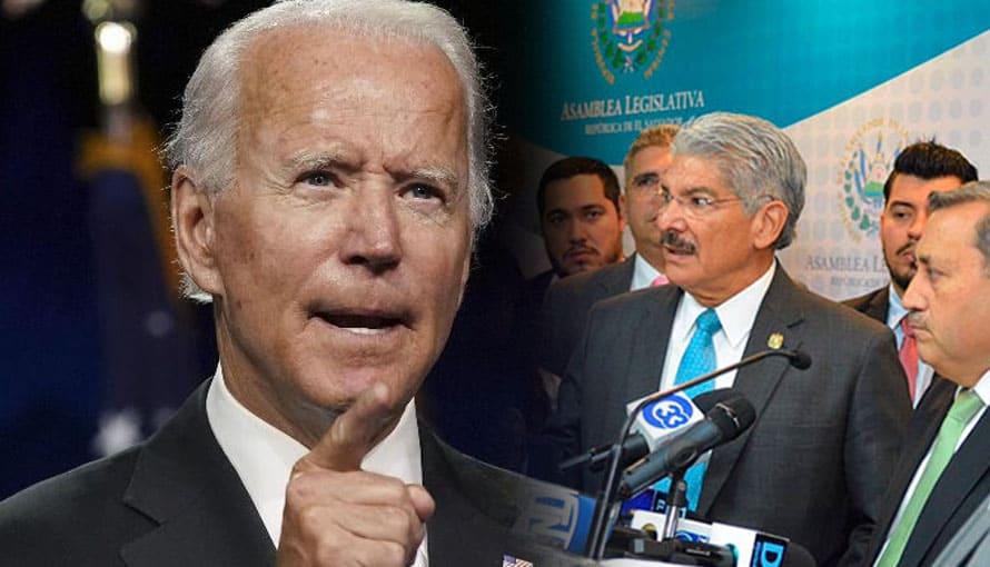 Salvadoreños realizan parodia de Joe Biden donde les pide a ARENAFRENTE devolver lo robado