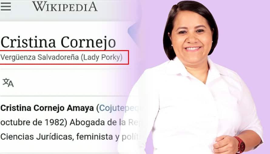Salvadoreños buscan a Cristina Cornejo en Wikipedia y se sorprenden de los resultados
