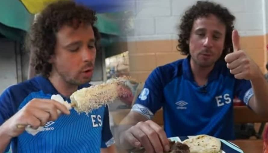 Pupusas, elotes locos, atol, riguas son parte del tercer vídeo de Luisito Comunica