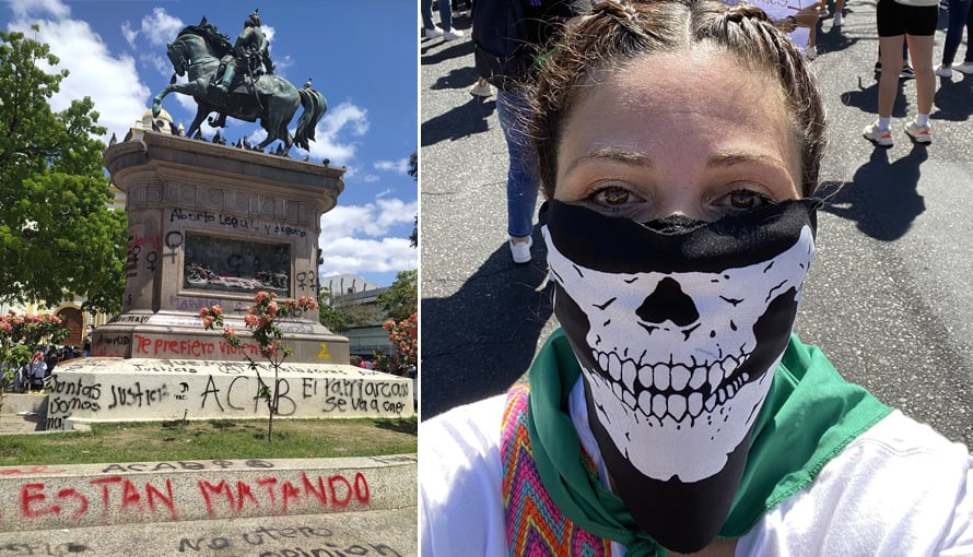 Salvadoreños viralizan hastag #BertaPandillera en Twitter por ser señalada de vandalizar la propiedad pública