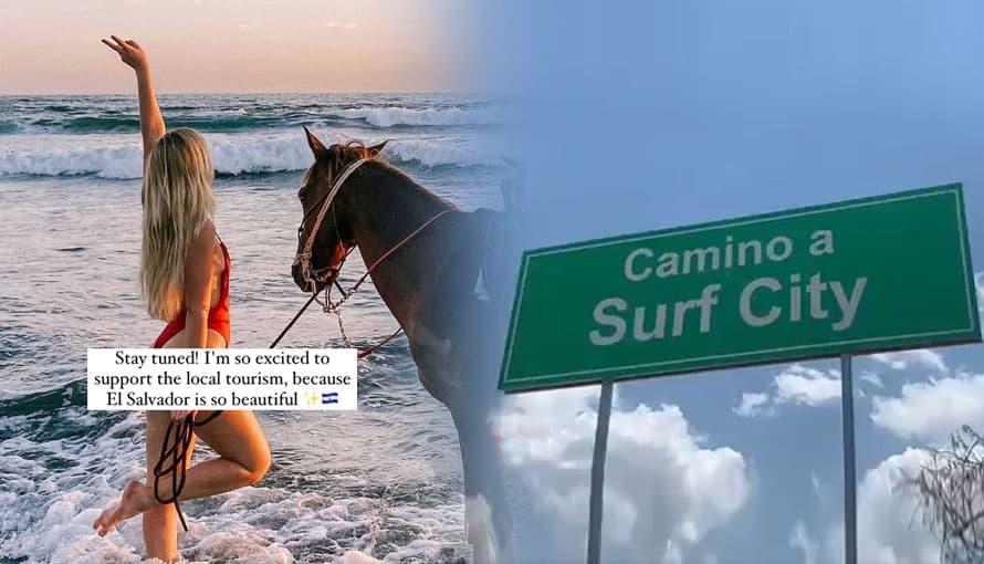 Joven youtuber finlandesa disfruta y destaca la belleza de Surf City en El Salvador