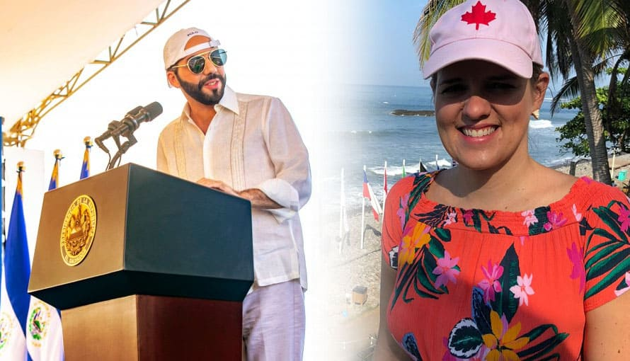 Embajadora de Canadá asiste al mundial de Surf para felicitar al Gobierno de Bukele