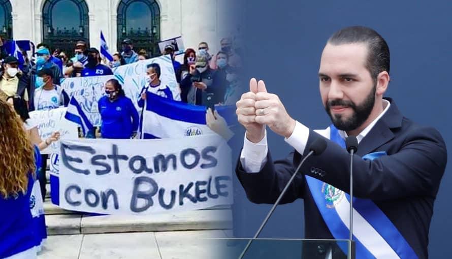 VIDEO: Salvadoreños en EE. UU. realizan mega concentración frente a la OEA en apoyo al Presidente Bukele