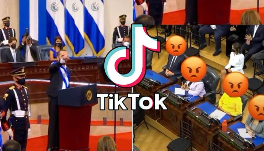 """Presidente Nayib Bukele dedicada TikTok a """"los de la esquina"""" de la Asamblea Legislativa"""