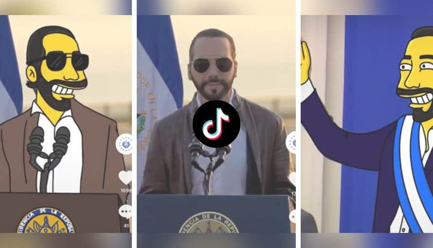 Salvadoreños viralizan TikTok que celebra el cumpleaños del Presidente Bukele al estilo Los Simpson